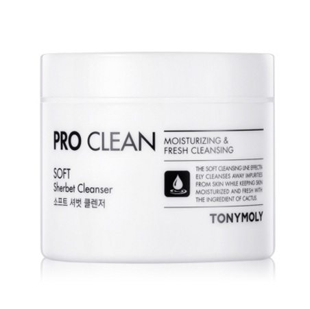 Tony Moly Pro Clean Soft Sherbet Cleanser 9korean cleanser product online shop malaysia china thailand