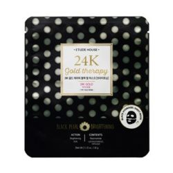 Etude House 24K Gold Therapy Black Pearl Mask [Brightening] 32g korean cosmetic skincare shop malaysia singapore indonesia