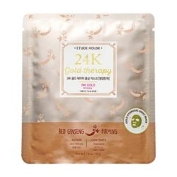 Etude House 24K Gold Therapy Red Ginseng Mask [Firming korean cosmetic skincare shop malaysia singapore indonesia