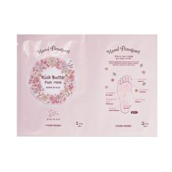 Etude House Hand Bouquet Rich Butter Foot Mask 18g korean cosmetic skincare shop malaysia singapore indonesia