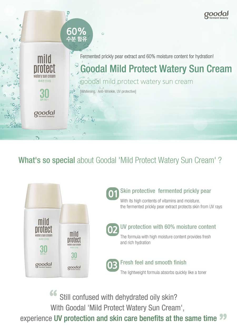 Goodal Mild Protect Watery Sun Cream malaysia singapore thailand brunei canada australia1