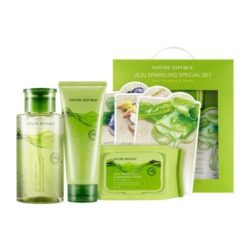 Nature Republic Jeju Sparkling Best Cleansing and Mask Special Set korean cosmetic cleanser product online shop malaysia thailand laos