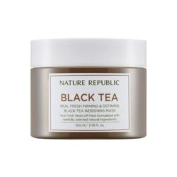 Nature Republic Real Fresh Black Tea Nourishing Mask korean cosmetic skincare product online shop malaysia australia italy