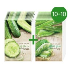 Nature Republic Real Nature Mask Sheet Cucumber n Aloe Vera korean cosmetic skncare product online shop malaysia australia italy