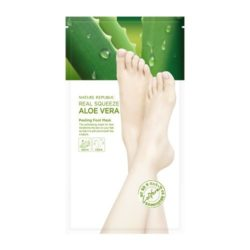 Nature Republic Real Squeeze Aloe Vera Peeling Foot Mask korean cosmetic bodyhair product online shop malaysia usa macau