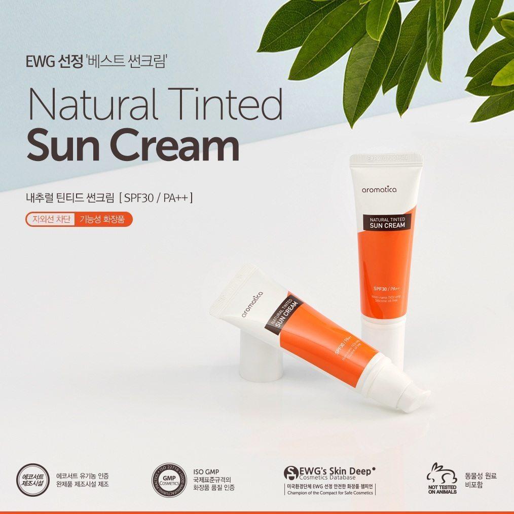Aromatica Natural Tinted Sun Cream korean cosmetic skincare product online shop malaysia china japan1