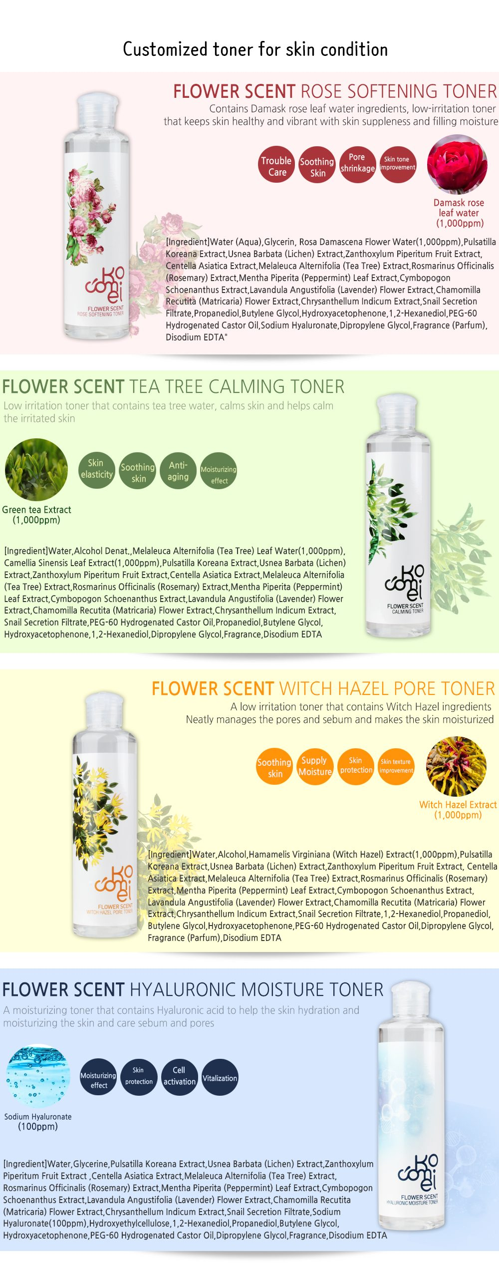 Kocomei Flower Scent Toner 250ml price malaysia singapore brunei philippines australia2