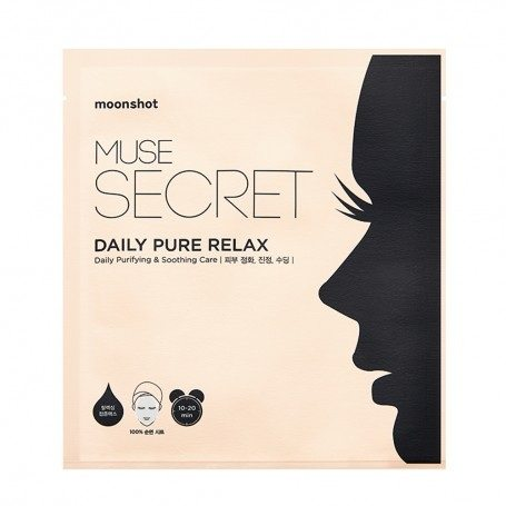 Moonshot Muse Secret Daily Pure Relax Mask Sheet 4 korean cosmetic skincare product online shop malaysia usa macau