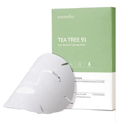 Aromatica Tea Tree 91 Anti Blemish Calming Mask korean cosmetic skincare product online shop malaysia china spain