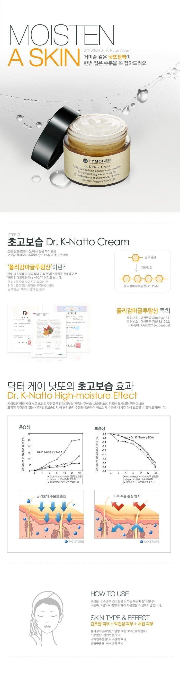 Zymogen Dr. K Natto Cream korean cosmetic skincar product online shop malaysia brazil macau1