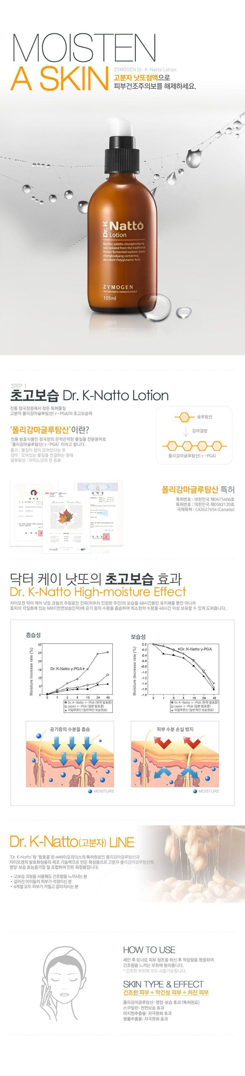 Zymogen Dr. K Natto Lotion korean cosmetic skincar product online shop malaysia brazil macau1
