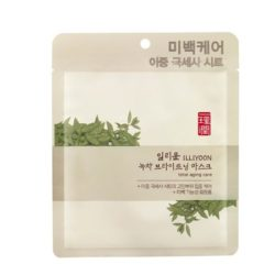 ILLIYOON Green Tea Brightening Mask 27g korean cosmetic skincare shop malaysia singapore indonesia