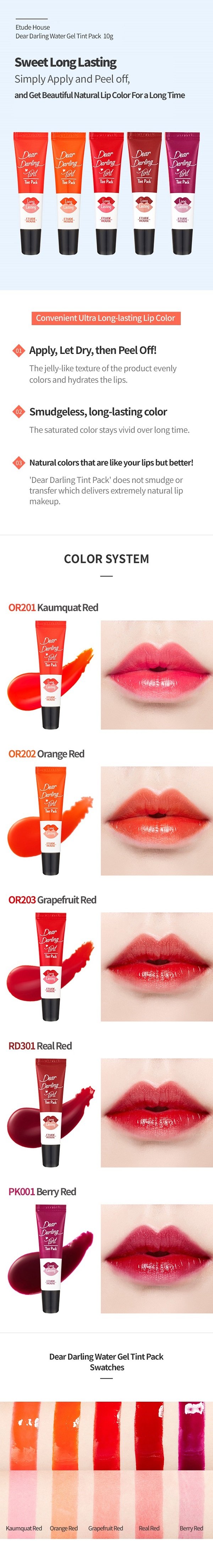 Etude House Dear Darling Water Gel Tint Pack 10g malaysia singapore indonesia