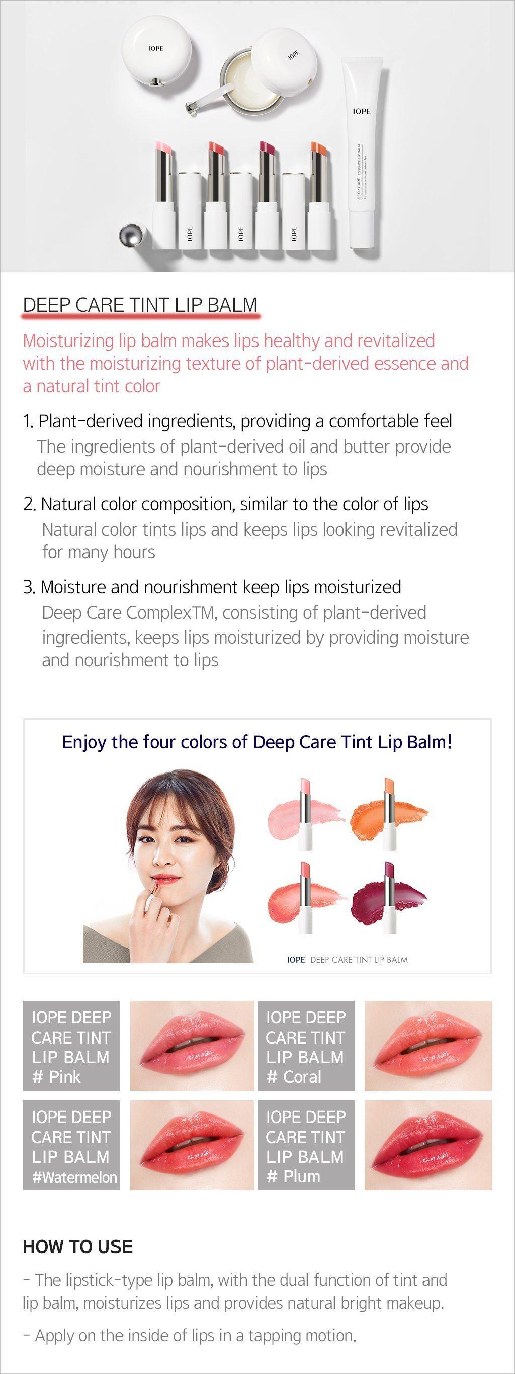 IOPE Deep Care Tint Lip Balm 2.8g malaysia singapore indonesia
