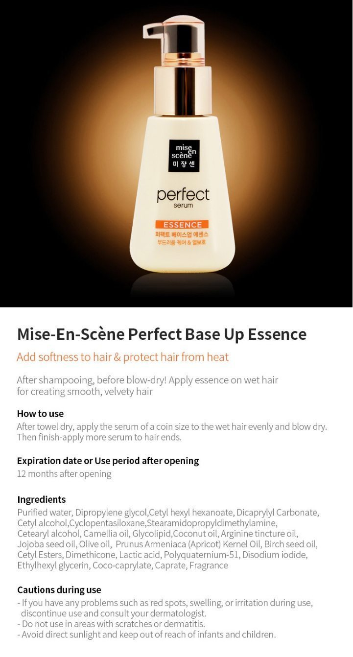 Mise En Scene Perfect Base Up Essence korean cosmetic hair care product online shop malaysia china usa1