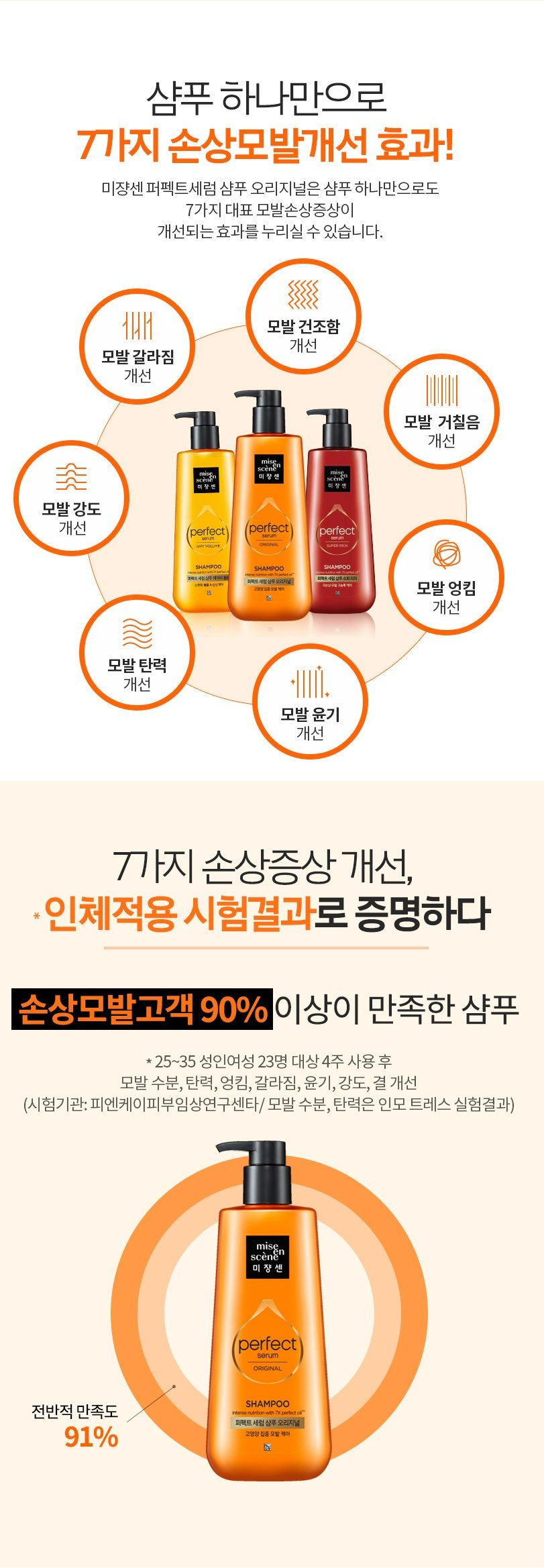 Mise En Scene Perfect serum Shampoo korean cosmetic hair care product online shop malaysia china usa3