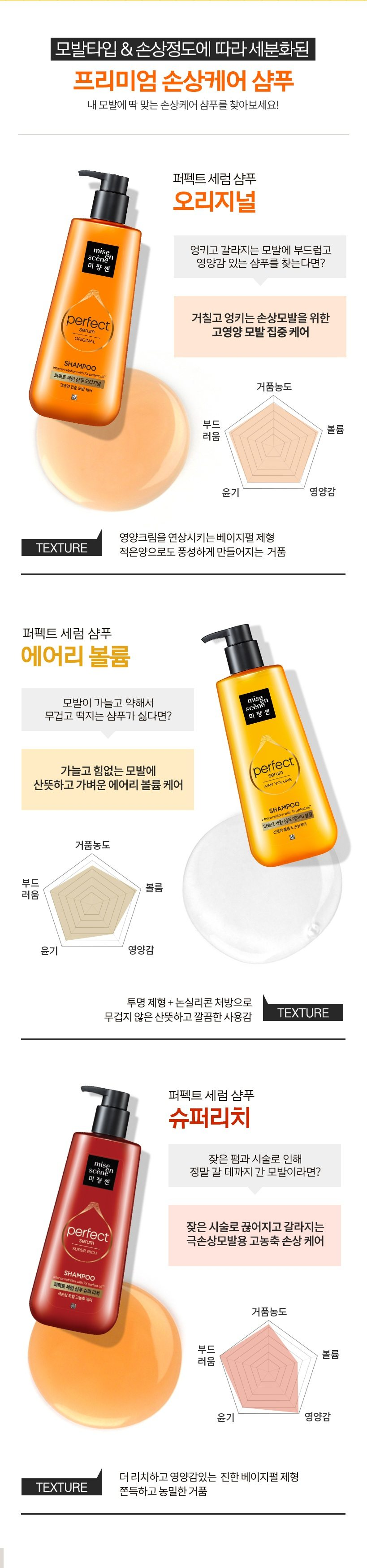 Mise En Scene Perfect serum Shampoo korean cosmetic hair care product online shop malaysia china usa5