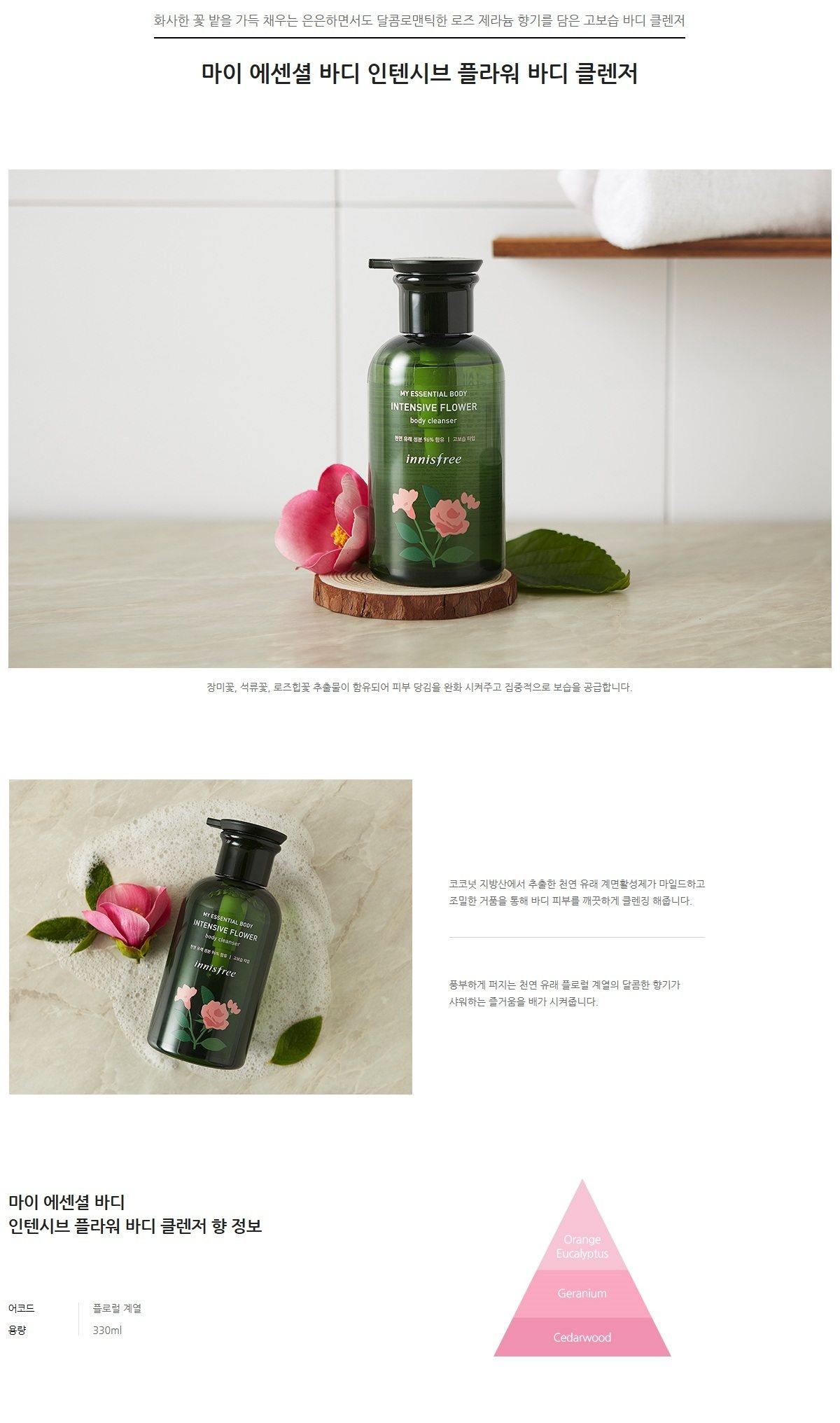 Innisfree My Essential Body Intensive Flower Body Cleanser korean cosmetic skincare product online shop malaysia usa mexico1