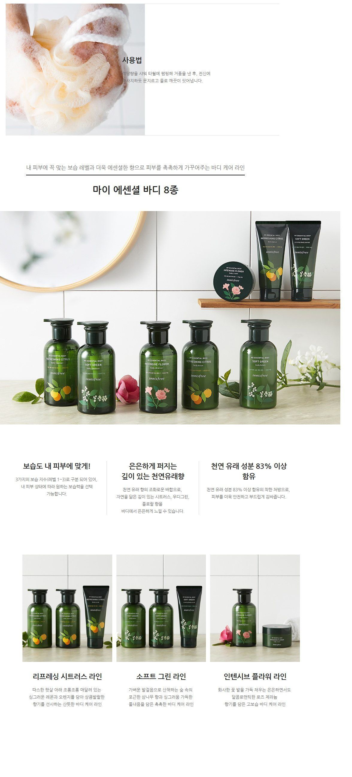 Innisfree My Essential Body Intensive Flower Body Cleanser korean cosmetic skincare product online shop malaysia usa mexico2