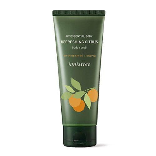 Innisfree My Essential Body Refreshing Citrus Body Scrub korean cosmetic skincare product online shop malaysia usa mexico