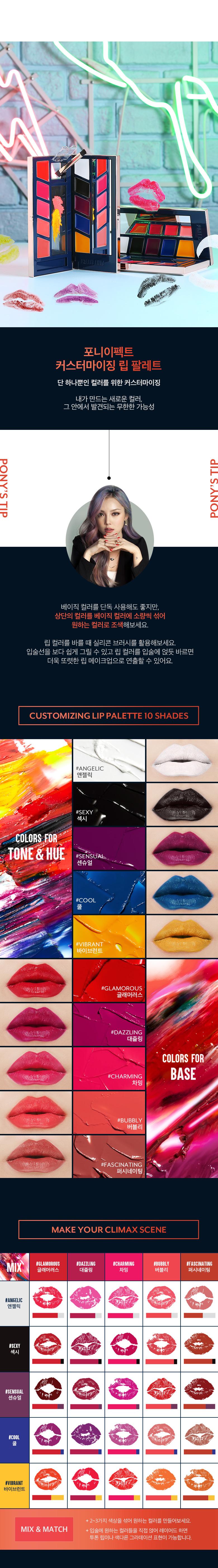 MEMEBOX Pony Effect Customizing Lip Palette 11g malaysia singapore indonesia