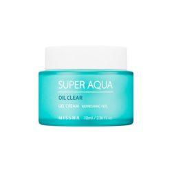 Missha Super Aqua Oil Clear Gel Cream 70ml korean cosmetic skincare shop malaysia singapore indonesia