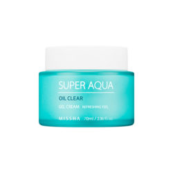 Missha Super Aqua Oil Clear Gel Cream 70ml korean cosmetic skincare shop malaysia singapore indonesia
