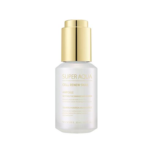 Missha Super Aqua Cell Renew Snail Ampoule 30ml korean cosmetic skincare shop malaysia singapore indonesia