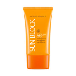 Nature Republic California Aloe No Sebum Sun Block 57ml korean cosmetic skincare shop malaysia singapore indonesia