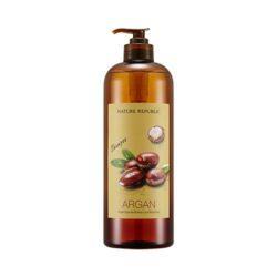 Nature Republic Argan Essential Deep Care Shampoo [Large Capacity] 1000ml korean cosmetic skincare shop malaysia singapore indonesia