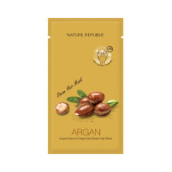 Nature Republic Argan Essential Deep Care Steam Hair Mask 30g korean cosmetic skincare shop malaysia singapore indonesia