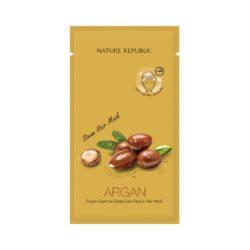 Nature Republic Argan Essential Deep Care Steam Hair Mask 30g korean cosmetic skincare shop malaysia singapore indonesia
