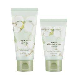 Nature Republic Cotton Armpit Kit 130ml korean cosmetic skincare shop malaysia singapore indonesia