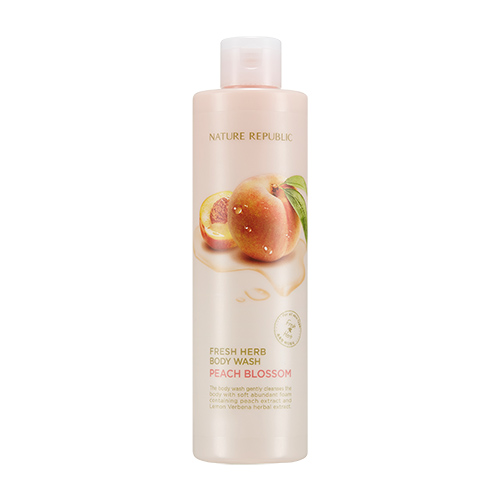 Nature Republic Fresh Herb Peach Blossom Body Wash 300ml korean cosmetic skincare shop malaysia singapore indonesia