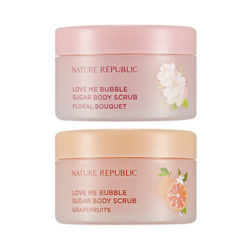 Nature Republic Love Me Bubble Sugar Body Scrub 200g korean cosmetic skincare shop malaysia singapore indonesia