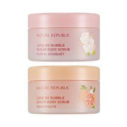 Nature Republic Love Me Bubble Sugar Body Scrub 200g korean cosmetic skincare shop malaysia singapore indonesia