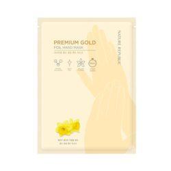 Nature Republic Premium Gold Foil Hand Mask 12ml korean cosmetic skincare shop malaysia singapore indonesia