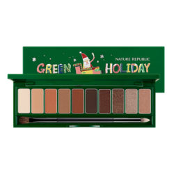 Nature Republic Pro Touch Shadow Palette [Green Holiday Edition] 10g korean cosmetic skincare shop malaysia singapore indonesia