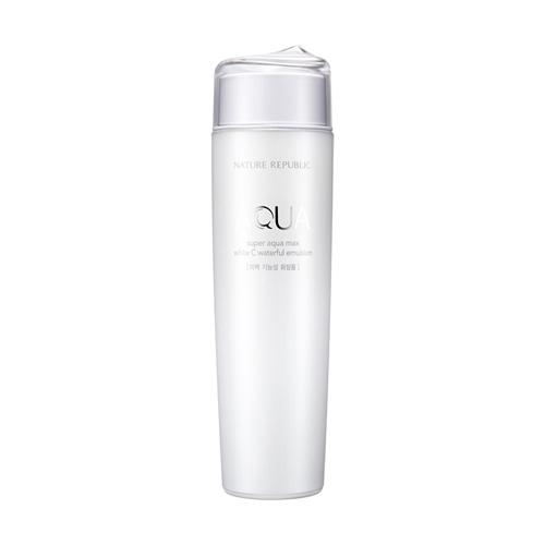 Nature Republic Super Aquamax White C Waterful Emulsion 150ml korean cosmetic skincare shop malaysia singapore indonesia