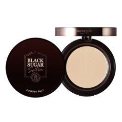 Skinfood Black Sugar Satin Powder Pact 10g korean cosmetic skincare shop malaysia singapore indonesia