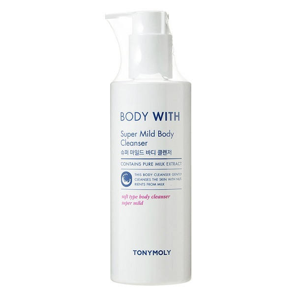 Tony Moly Body With Super Mild Body Cleanser 300ml korean cosmetic skincare shop malaysia singapore indonesia