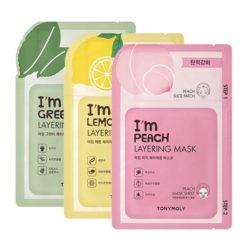 Tony Moly I'm Layering Mask 23g korean cosmetic skincare shop malaysia singapore indonesia