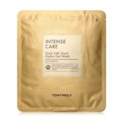 Tony Moly Intense Care Gold 24k Snail Hydro Gel Mask 25g korean cosmetic skincare shop malaysia singapore indonesia