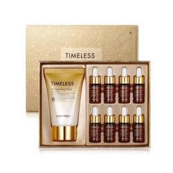 Tony Moly Timeless Ferment Snail Ampoule Set 82ml korean cosmetic skincare shop malaysia singapore indonesia