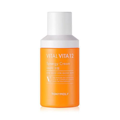 Tony Moly Vital Vita 12 Synergy Cream 45ml korean cosmetic skincare shop malaysia singapore indonesia