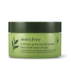 Innisfree 5 Minute Green Tea Leaf Powder Face 70g Mask korean cosmetic cleansing product online shop malaysia china usa