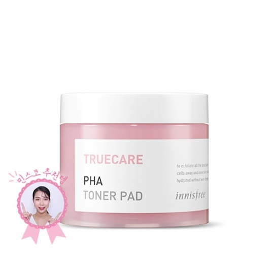 Innisfree Truecare PHA Toner Pad korean cosmetic cleansing product online shop malaysia china usa0