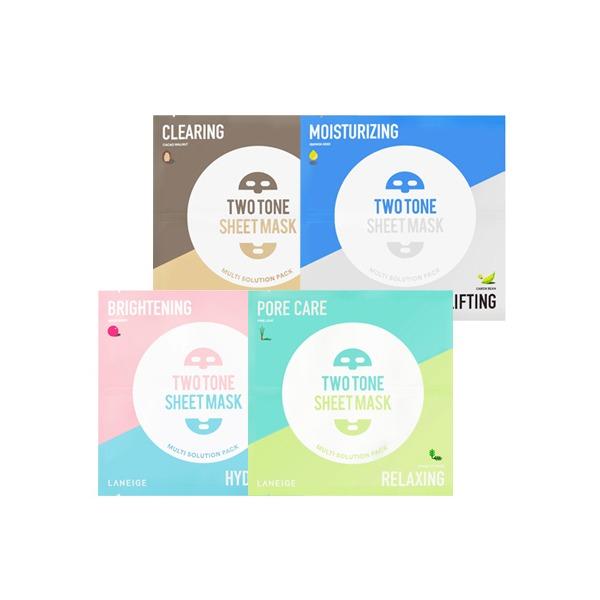 Laneige Two Tone Sheet Mask 25g korean cosmetic skincare shop malaysia singapore indonesia