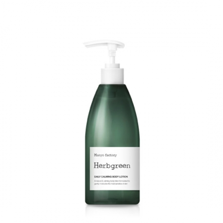 Manyo Factory Herbgreen Daily Calming Body Lotion 350ml korean cosmetic skincare shop malaysia singapore brunei