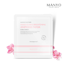 Manyo Factory Moist Floral Brightening Ampoule Mask 25ml korean cosmetic skincare shop malaysia singapore indonesia